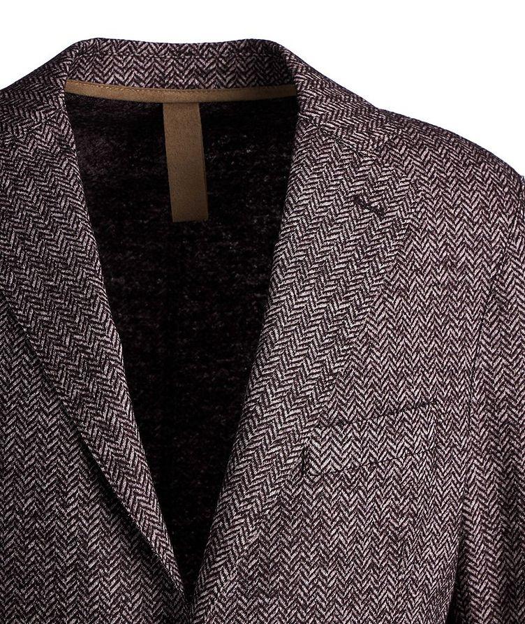 Herringbone Laser Cut Wool-Blend Sports Jacket image 1