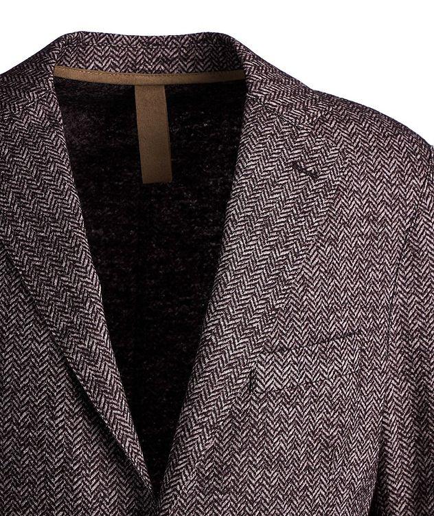 Herringbone Laser Cut Wool-Blend Sports Jacket picture 2