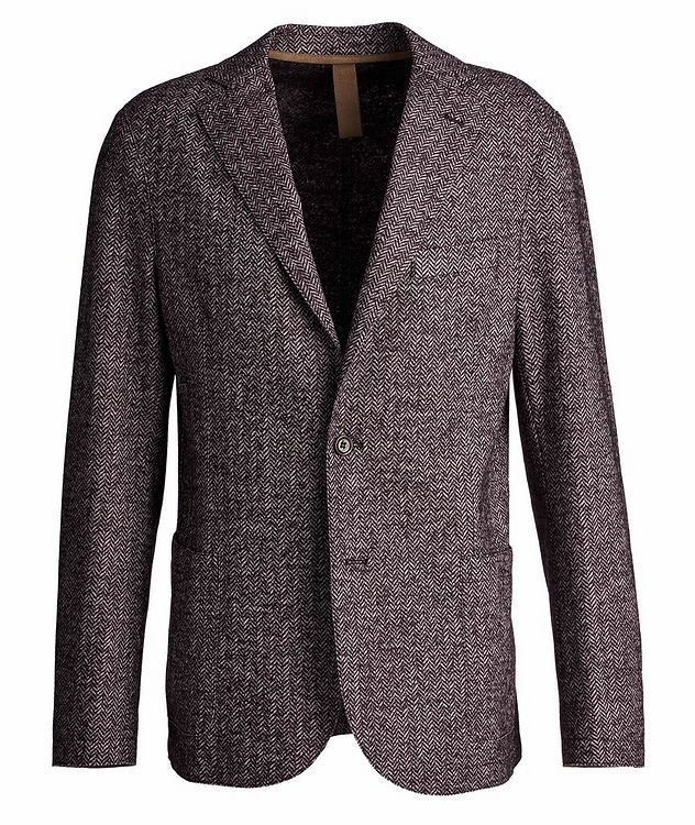 Herringbone Laser Cut Wool-Blend Sports Jacket picture 1