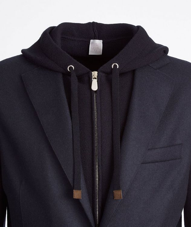 Multi-Texture Wool-Flannel Sports Jacket picture 2