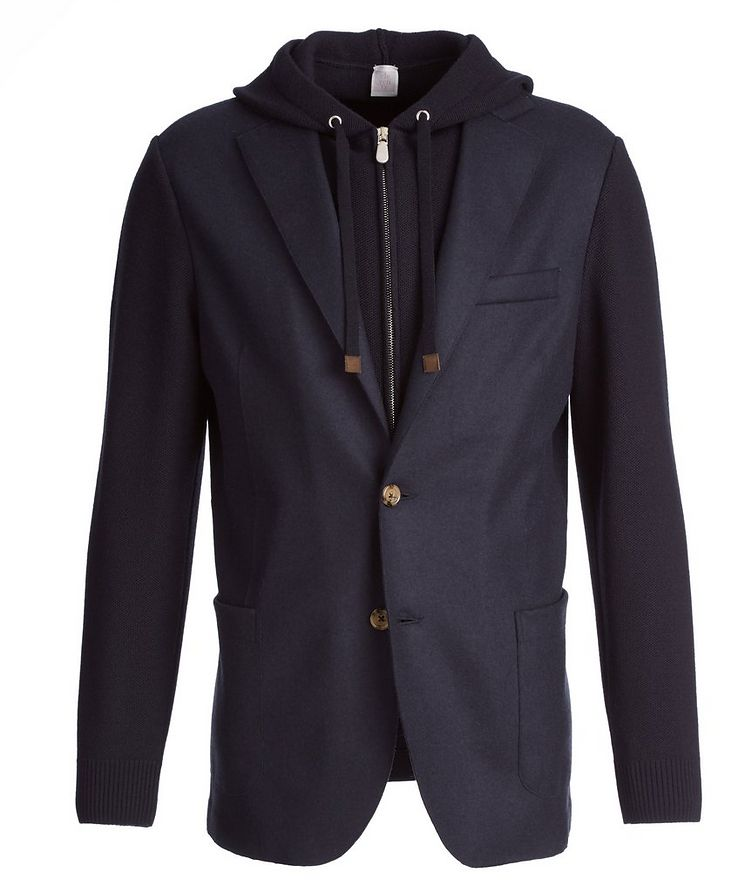 Multi-Texture Wool-Flannel Sports Jacket image 0