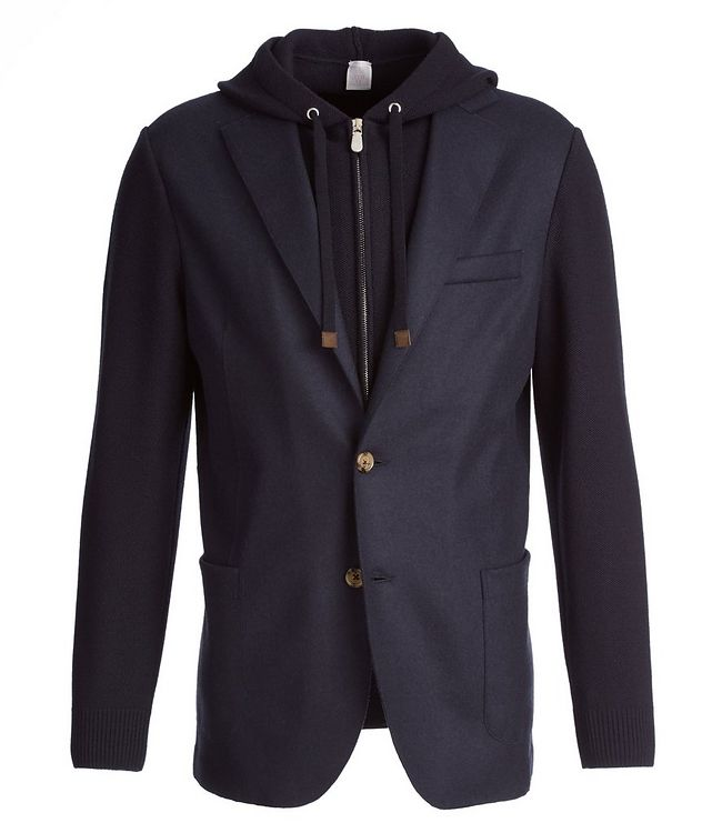 Multi-Texture Wool-Flannel Sports Jacket picture 1