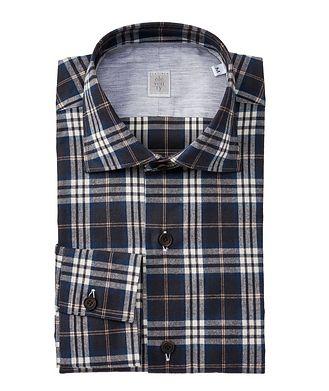 Eleventy Plaid Cotton Shirt