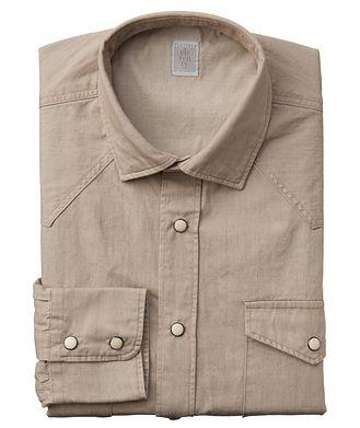 Eleventy Western Cotton Shirt