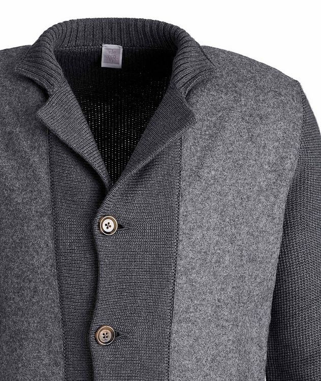 Button-Up Wool Knit Cardigan picture 3