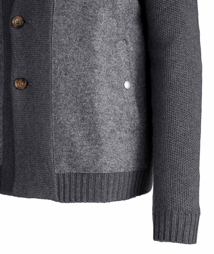 Button-Up Wool Knit Cardigan image 3