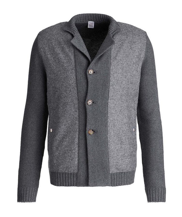 Button-Up Wool Knit Cardigan image 0