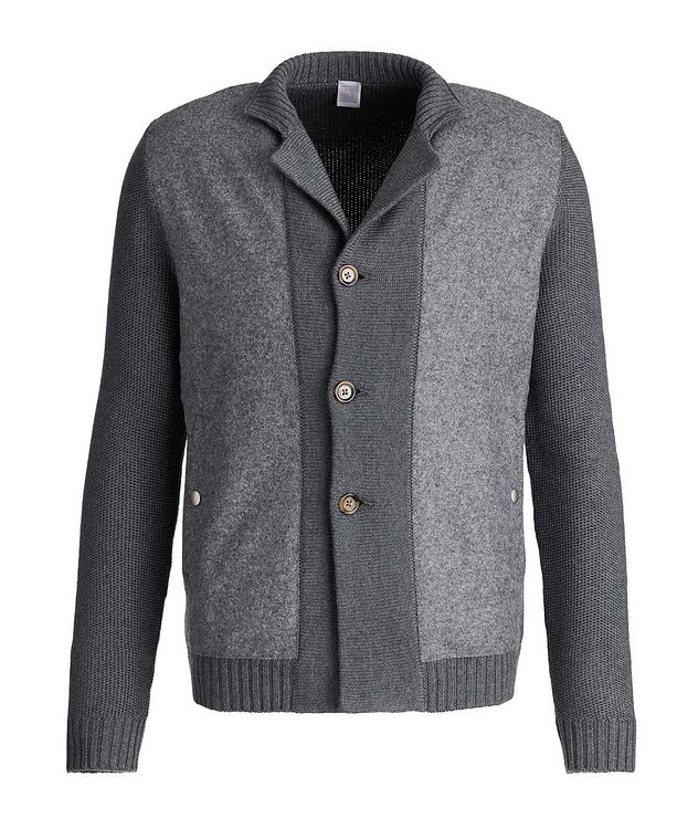 Button-Up Wool Knit Cardigan picture 1