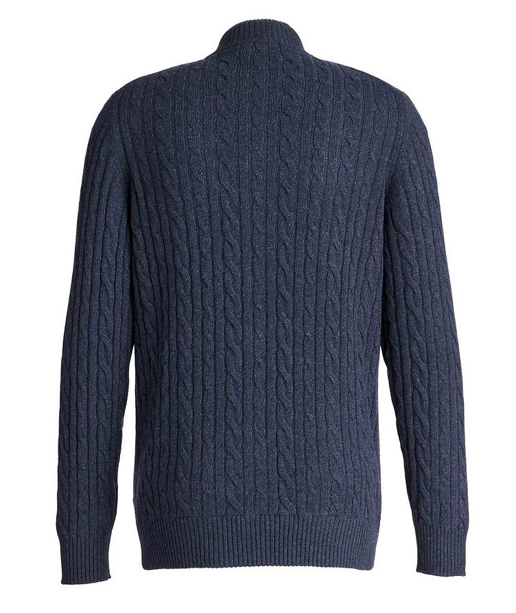 Zip-Up Knit Cashmere Sweater image 1