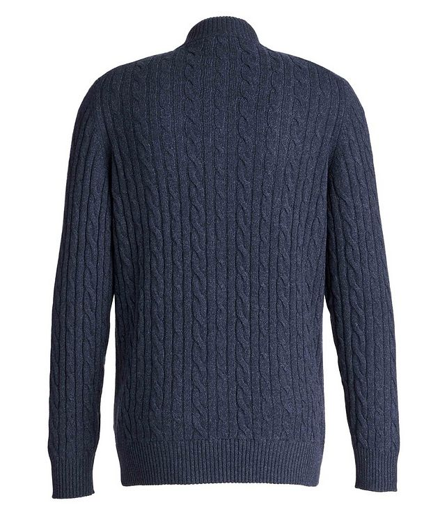 Zip-Up Knit Cashmere Sweater picture 2