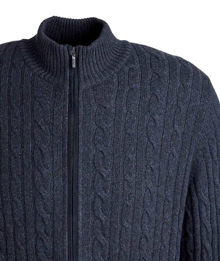Zip-Up Knit Cashmere Sweater image 2