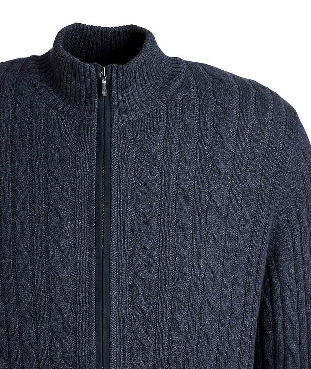 Zip-Up Knit Cashmere Sweater picture 3