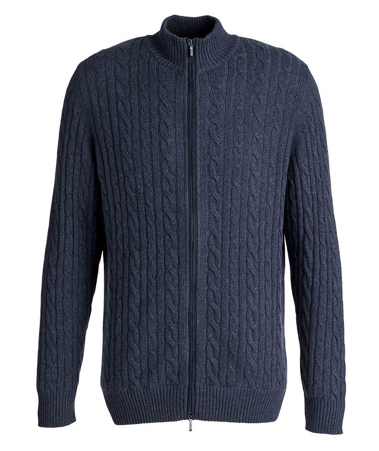 Zip-Up Knit Cashmere Sweater image 0