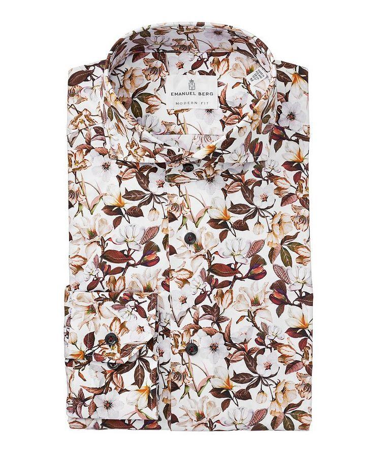 Slim Fit Botanical Cotton Shirt image 0