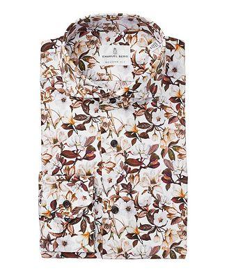 Emanuel Berg Chemise en coton à motif floral de coupe amincie