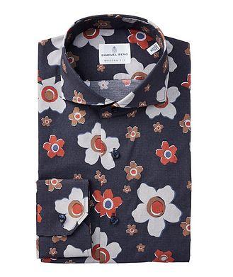 Emanuel Berg Chemise en coton à motif floral