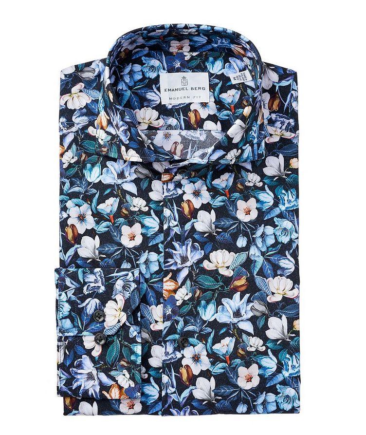 Chemise en coton à motif floral image 0