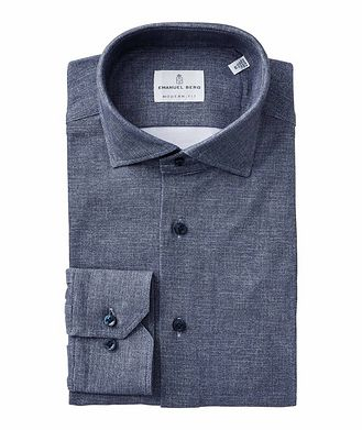 Emanuel Berg Stretch-Cotton Shirt