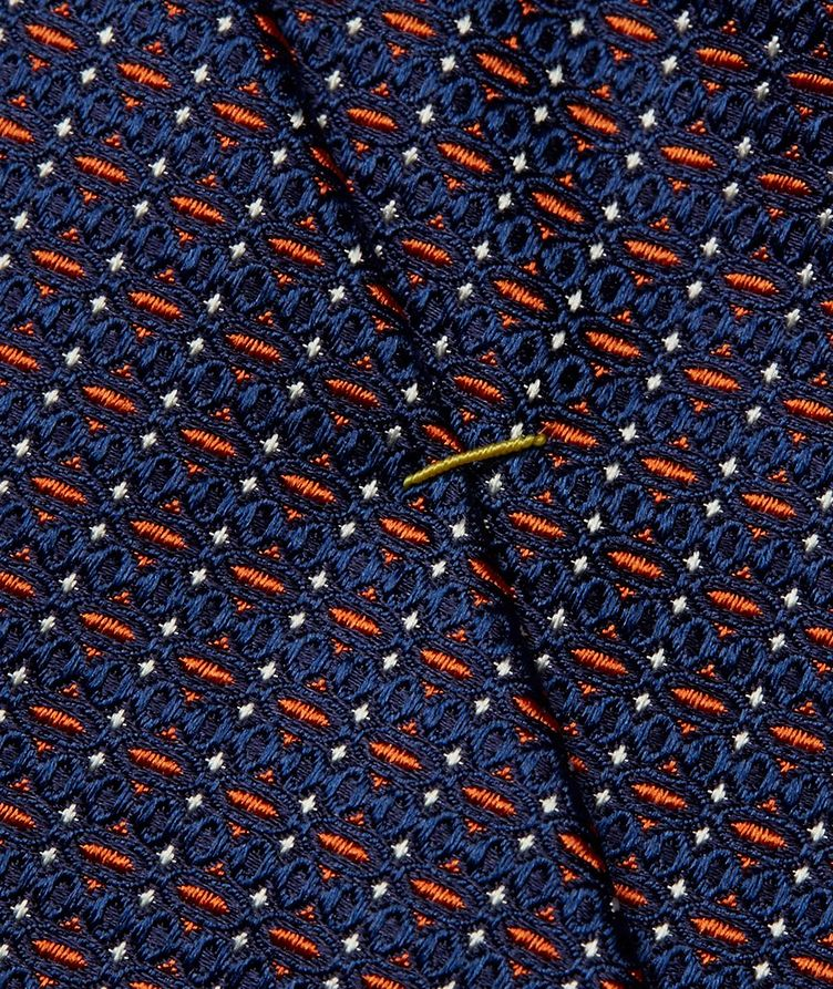 Geometric Printed Silk Tie image 2