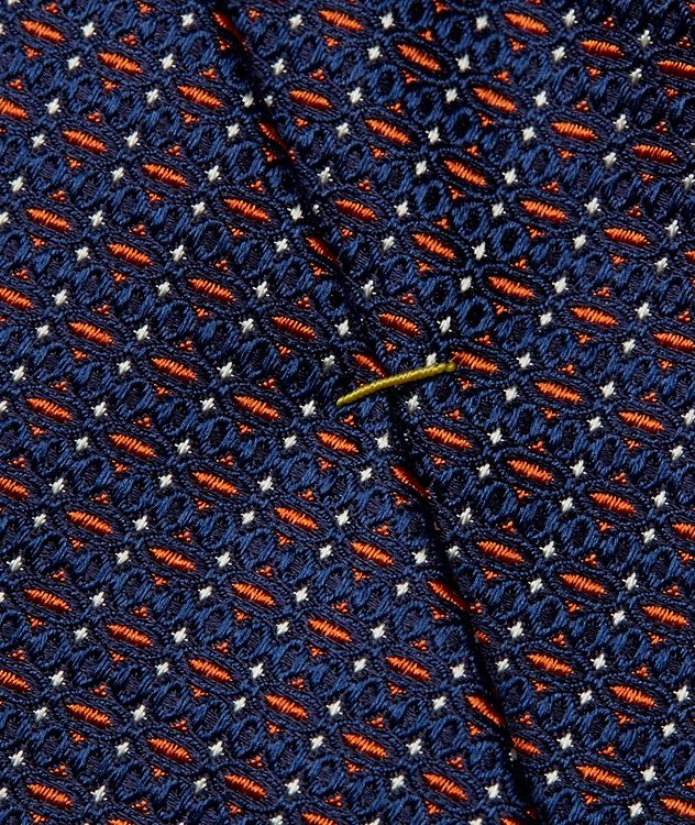 Geometric Printed Silk Tie picture 3