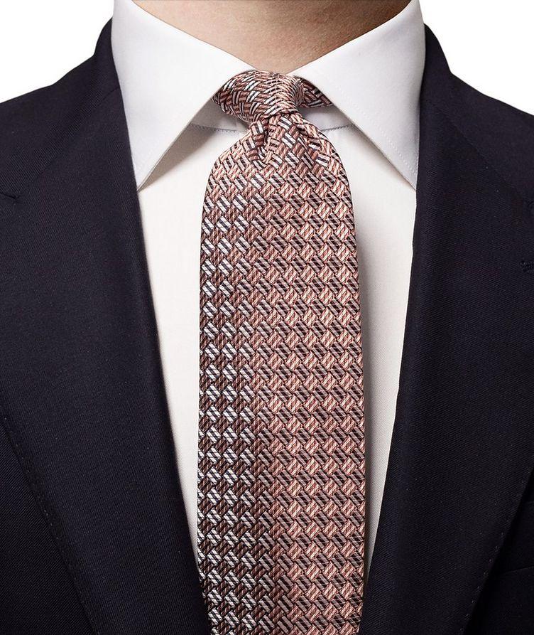 Checked Silk Tie image 1