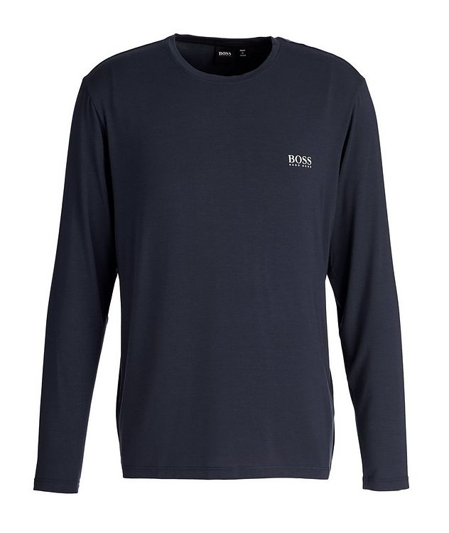 Comfort Long-Sleeve Stretch-Modal T-Shirt picture 1
