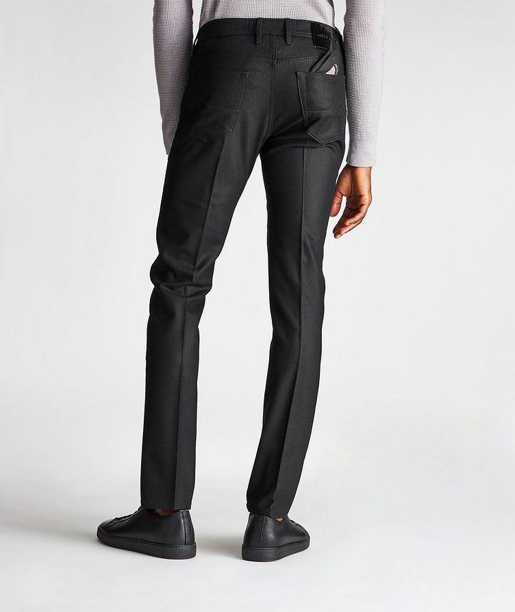 Slim Fit Five-Pocket Wool Pants image 1