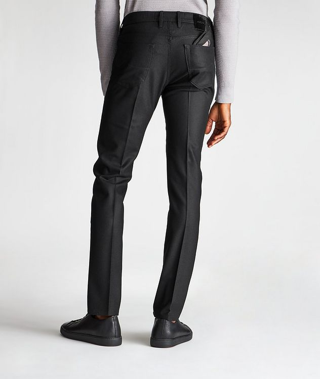 Slim Fit Five-Pocket Wool Pants picture 2