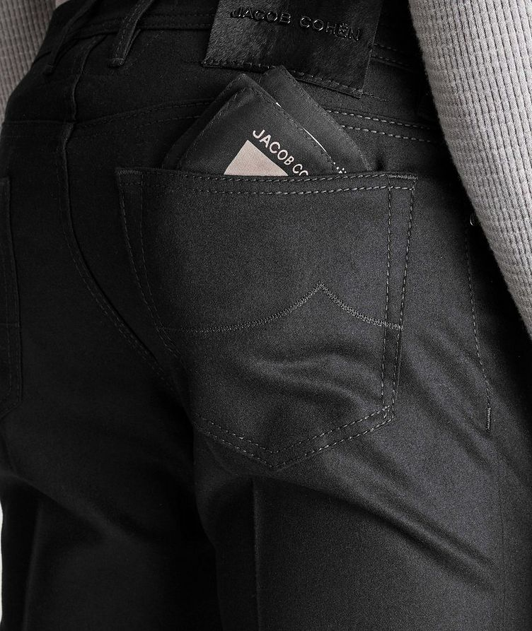 Slim Fit Five-Pocket Wool Pants image 2