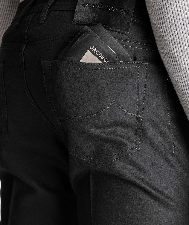 Slim Fit Five-Pocket Wool Pants picture 3