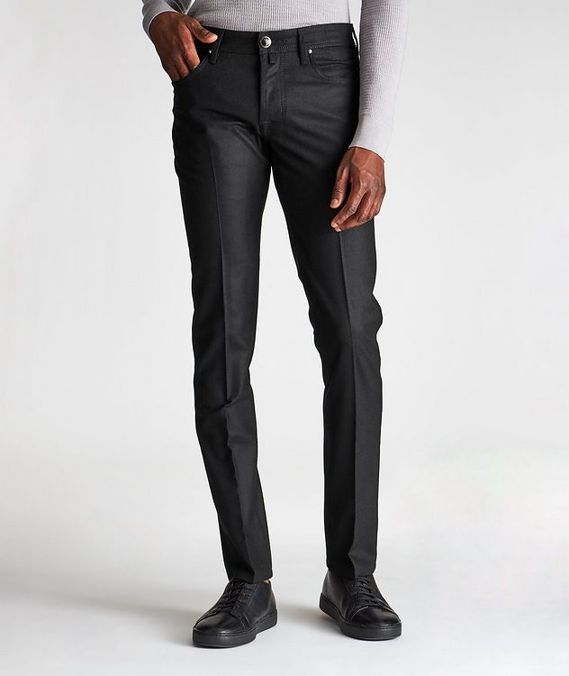 Slim Fit Five-Pocket Wool Pants picture 1