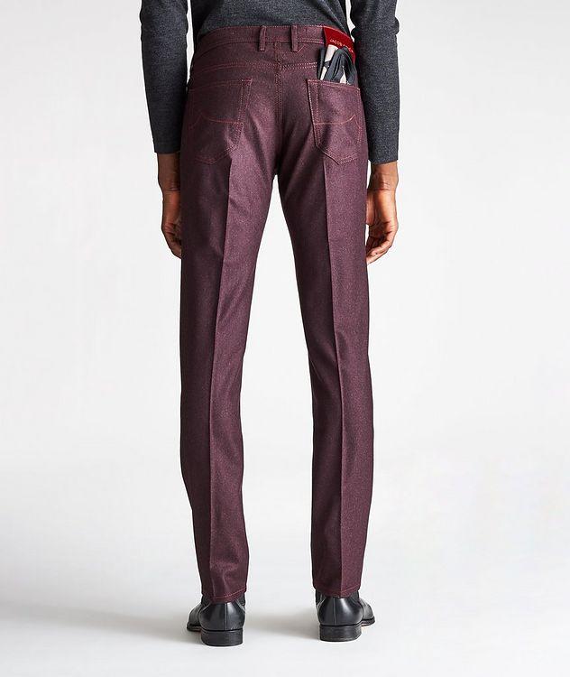 Pantalon en laine à cinq poches de coupe amincie picture 2