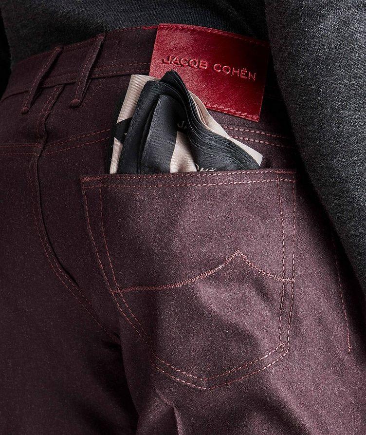 Pantalon en laine à cinq poches de coupe amincie image 2