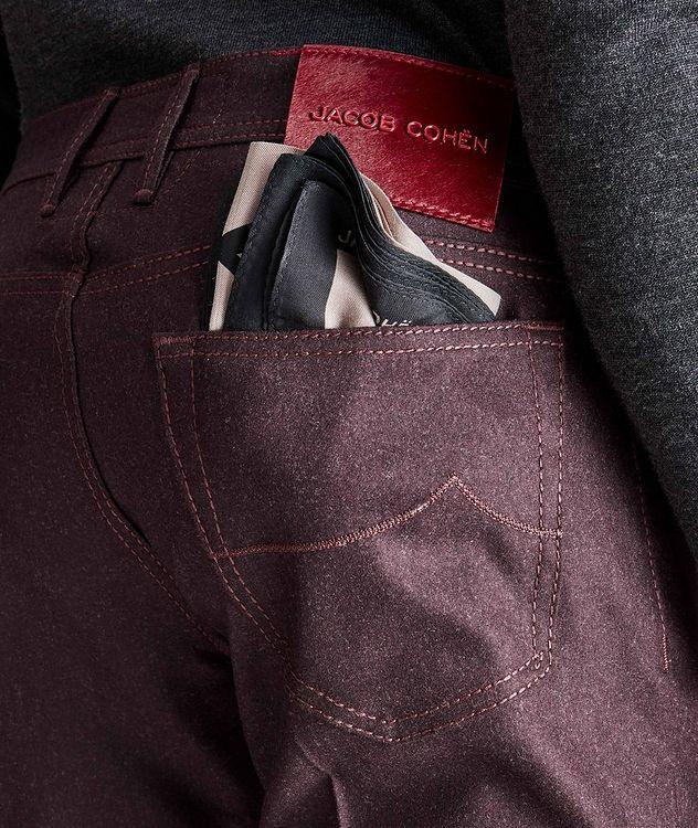 Pantalon en laine à cinq poches de coupe amincie picture 3