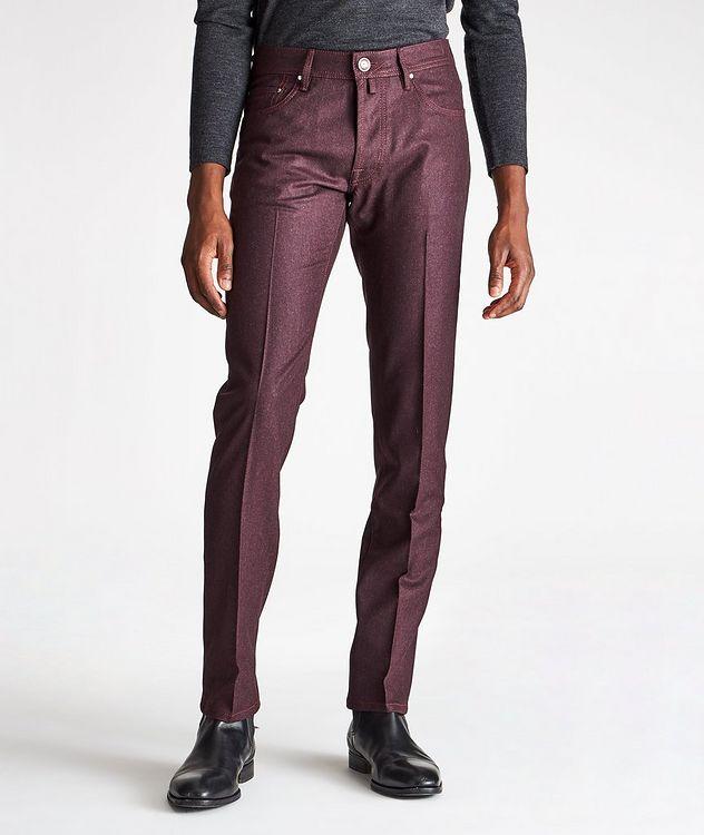 Pantalon en laine à cinq poches de coupe amincie picture 1