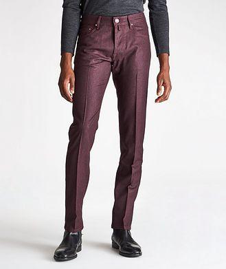 Jacob Cohen Slim-Fit Five-Pocket Wool Pants
