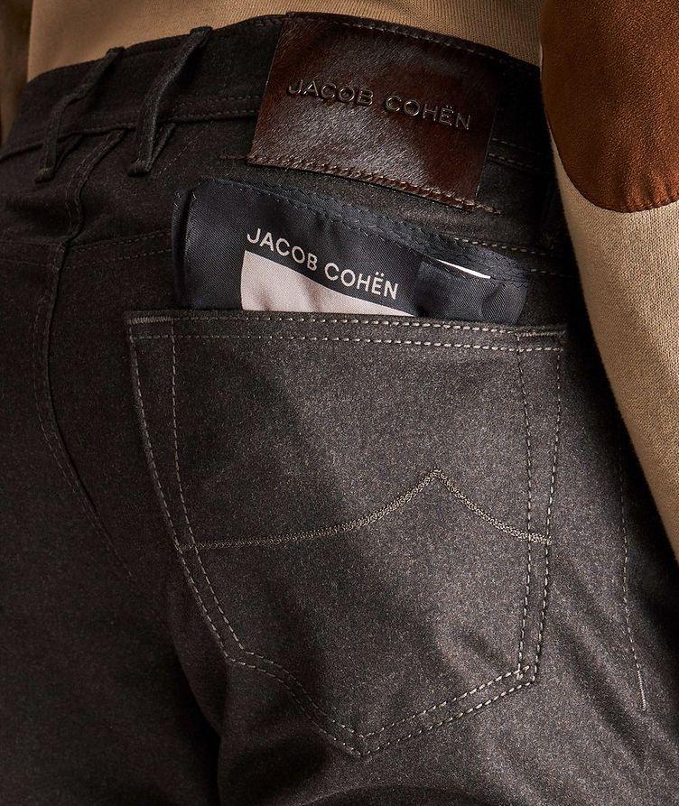 Slim-Fit Five-Pocket Wool Pants image 2
