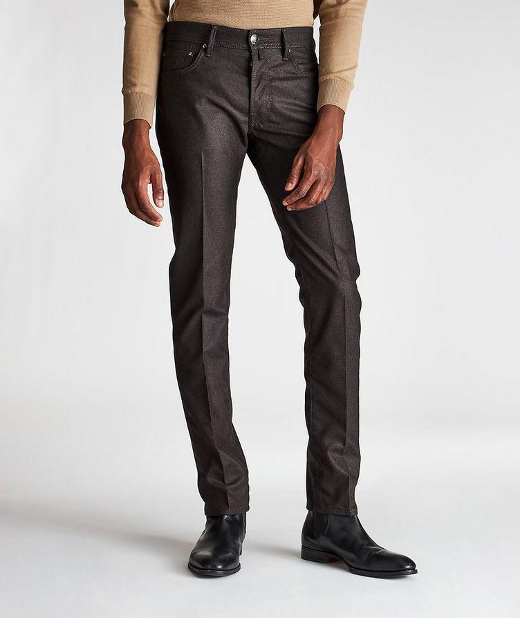 Slim-Fit Five-Pocket Wool Pants image 0