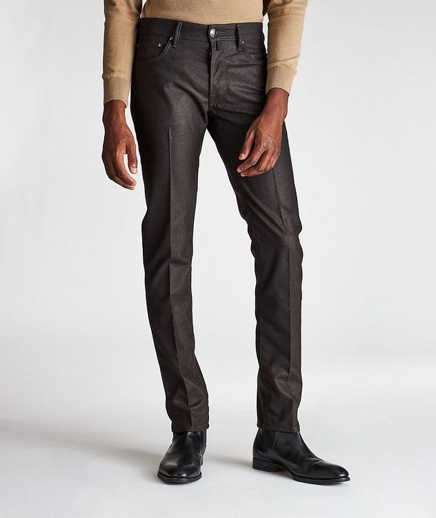 Slim-Fit Five-Pocket Wool Pants picture 1