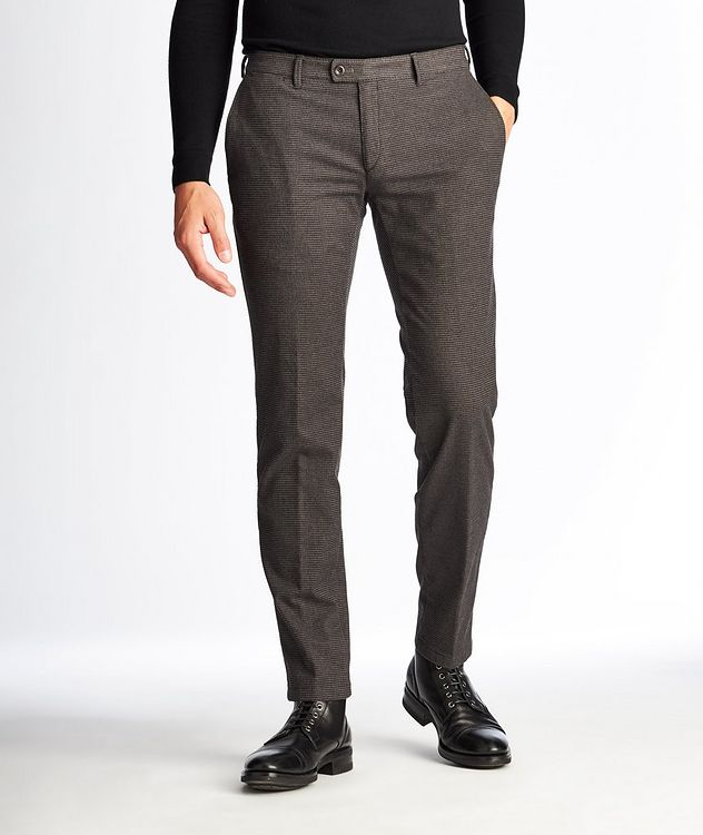 Felix Contemporary Fit Houndstooth Trousers picture 1
