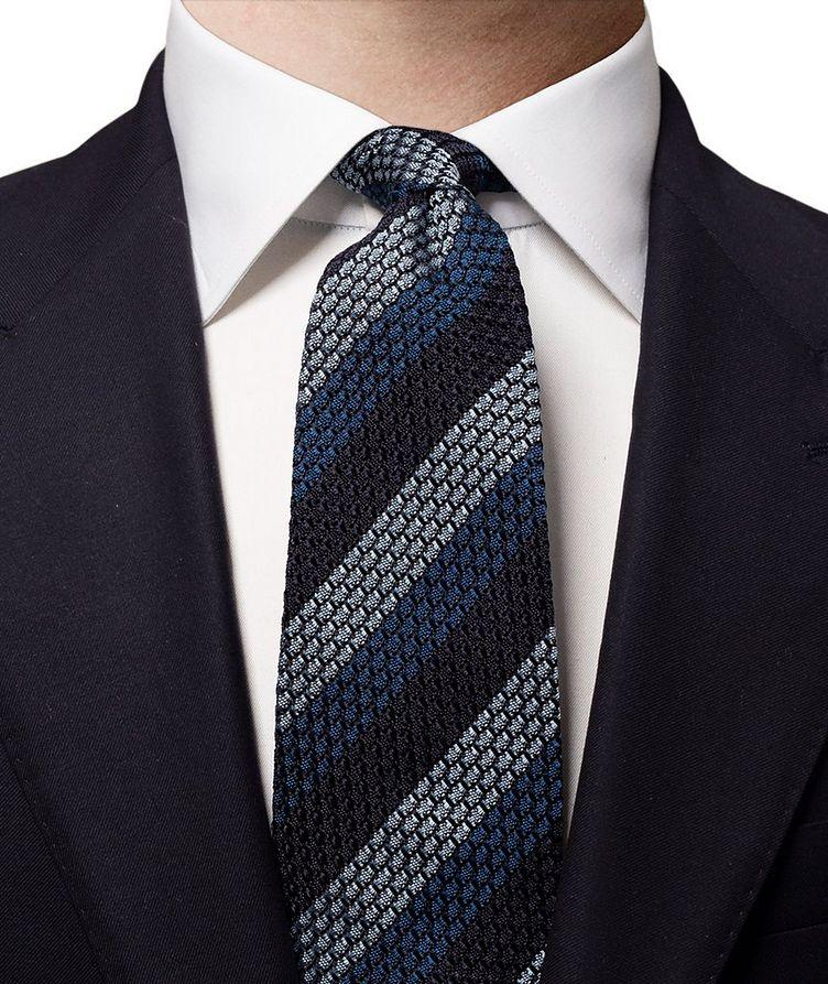 Striped Grenadine Silk Tie image 1