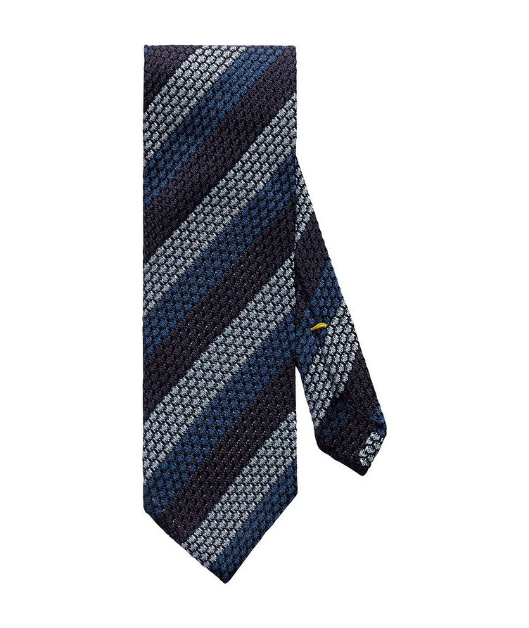 Striped Grenadine Silk Tie image 0