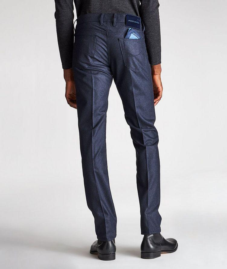 Pantalon en laine à plis et à cinq poches de coupe amincie image 1