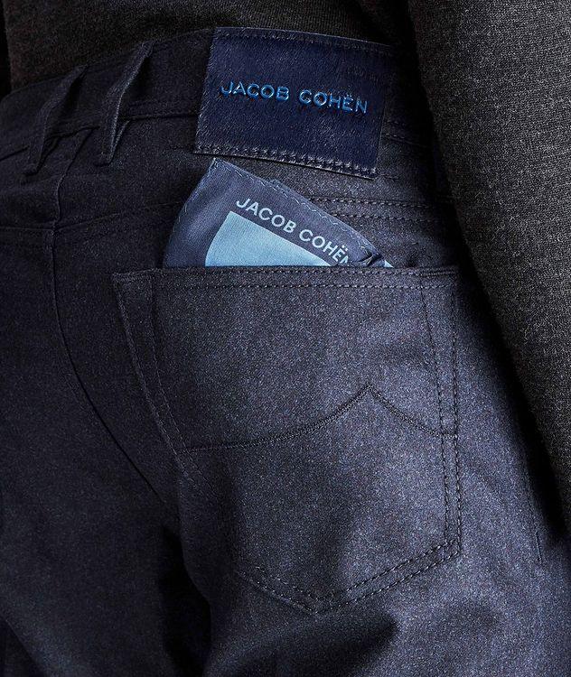 Pantalon en laine à plis et à cinq poches de coupe amincie picture 3