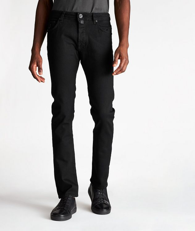 Slim-Fit Cotton-Modal Jeans picture 1