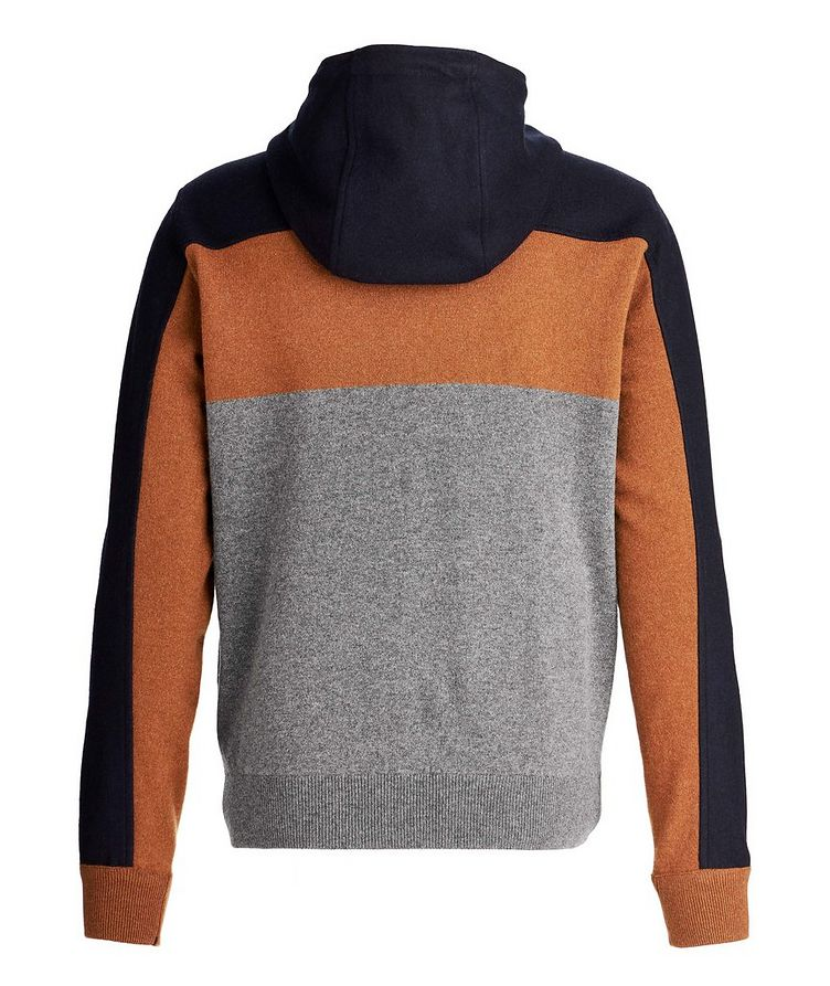 Colour Block Cashmere Zip-Up Hoodie image 1
