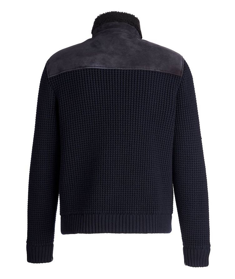 Shearling Wool-Cashmere Sweater image 1