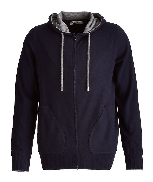 Duvet Cashmere Zip-Up Hoodie picture 1