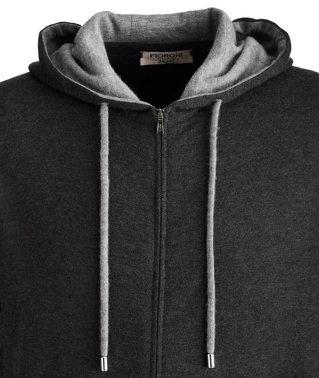 Duvet Cashmere Zip-Up Hoodie picture 2