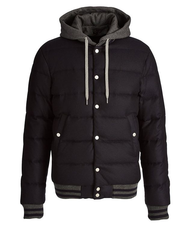 Storm System Wool-Cashmere Bomber Jacket picture 1
